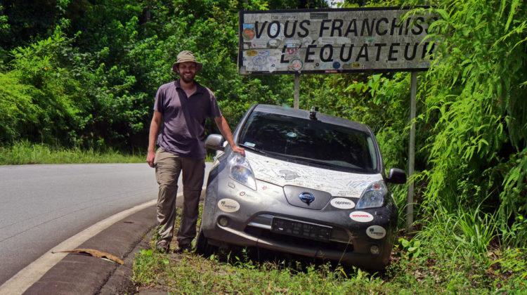 Nissanem Leaf przez Afrykę